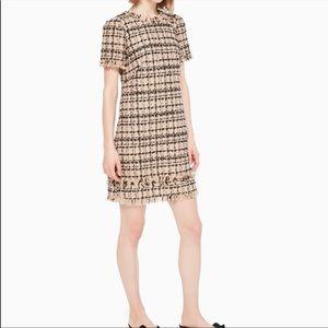 Kate Spade Heart It Bi-Color Tweed Dress